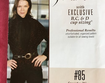 Silhouettes Sweater Wrap #85 pattern Sizes S-4X