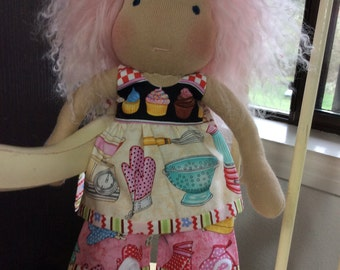 "Cupcake, 10-12"" Waldorf doll clothes,"