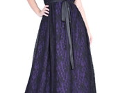 Black Lace Evening Gown Formal Women Plus Sizes Clothing Halter Maxi Dress Floral Dress Party Wedding Guest Black Black Dress Long Sundress