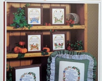 50%OFF Lauren Brunson FOUR SEASONS Samplers By Color Charts - Counted Cross Stitch Pattern Chart