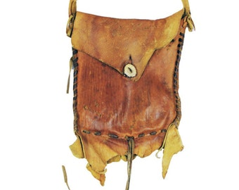Lace Up Leather Satchel Bag