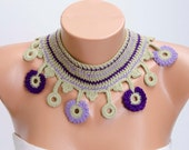 Crochet collar ,crochet necklace