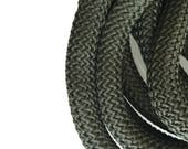 9-10mm Khaki Braided Nautical Paracord, Dark Green Braided Rope Cord, Thick Necklace Rope, Semisoft Climbing Cord, 9-10mm, S 40 205