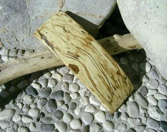 Wood HAIR BARETTE - From spalted Black HORNBEAM Handcrafted Wooden Hair Barette