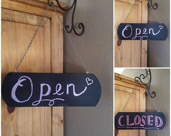 Chalkboard Open Closed Sign