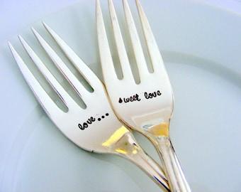 Wedding Forks Love Is Sweet Wedding Forks