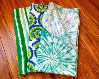 Tie Dye Print Receiving Blanket set