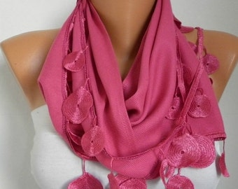 ON SALE --- Pink Pashmina Scarf Teacher Gift Winter Accessories Cowl Shawl Bridal Accessories Gift Ideas For Her Women Fashion Accessories S