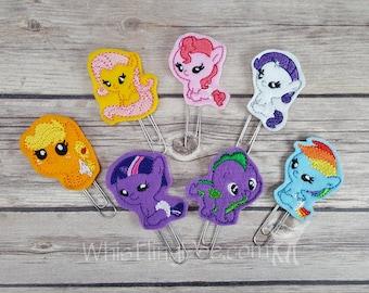 Baby Ponies Felt Planner Clip Bookmarks