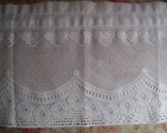Ecru Color Valance-13 x 56 inches