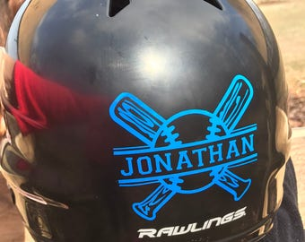 Baseball Helmet Name Decal