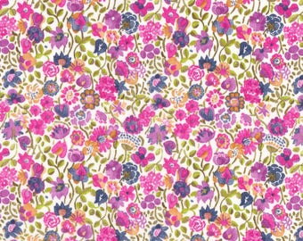 "Liberty Tana Lawn fabric KAYLIE SUNSHINE - 17"" wide x 13"" (43cm x 33cm) - purple, pink"