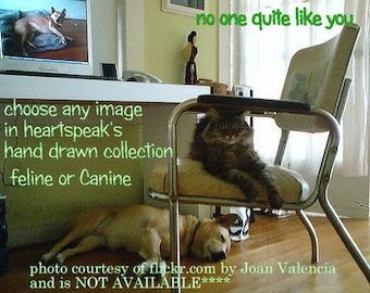 no one quite like you/  storybook/ feline/caine/sentimental/ personalize/choose an image / simplistic/unique empathy condolence