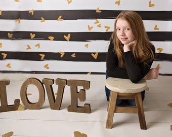 NEW Item 8ft x 7ft Vinyl Photography Backdrop / Love / You Gotta Heart of Gold / VALENTINES Day