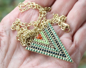 Zola elements mountain meadow triangle necklace, gold plated, boho necklace, bohemian necklace, triangle jewelry, stocking stuffer
