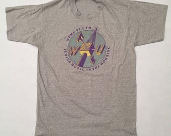 "Vintage ""Jewish Music in the Morning"" Radio Station T-Shirt"