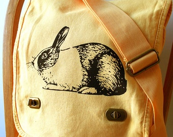 Rabbit Canvas Messenger Bag Laptop Bag