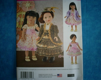 Simplicity 8112 American Girl outfits. 18 inch doll.
