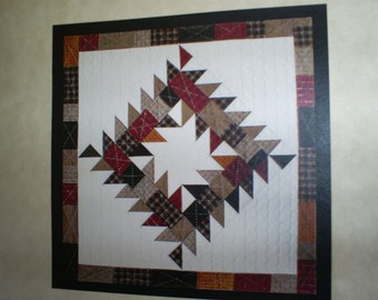 SALE  Thangles Patterns Sawtooth Square. Wall hanging. Was 5.00.
