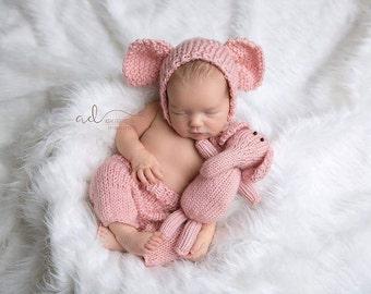 pink elephant baby shower theme - Pink elephant baby outfit - Photo prop outfit girl - Baby elephant outfit - girl pink elephant costume