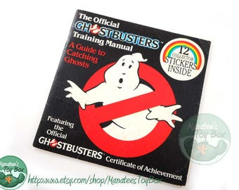 Vintage Official Ghostbusters Training Manual Sticker Book 1980s