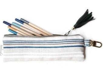Striped Skinny Pencil Case
