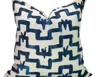 Tulu pillow cover in Indigo - ON BOTH SIDES