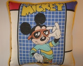 Upcycled Vintage Mickey Mouse Pillows