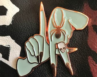 Soft enamel Los Angeles hands pin
