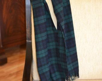 Pendleton® Scarf - Blackwatch black watch Tartan Plaid - 12 x 54 - mens or womens fashion accessories - Pendleton® Wool Scarf plaid for fall