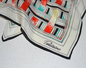 Pendleton® Scarf - classic silk Pendleton® Scarf - square silk womens teens fashion accessory geometric squares rectangles black bold easter
