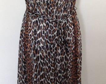 Vanity Fair leopard print full length