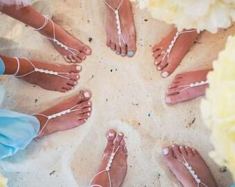 Barefoot Sandals- Foot Jewelry- Beach Wedding Barefoot Sandals-Barefoot Bride- Beach Wedding- Bridesmaid Gift- Boho Wedding Shoe- MCC sandal
