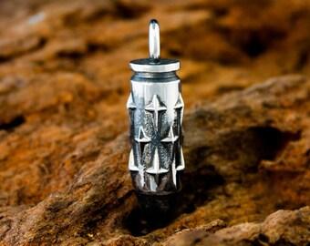 Handmade Sterling 925 Silver Earth Star Bullet Pendant