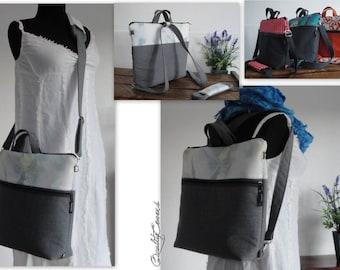 Convertible Laptop Backpack 4 modes of worn : BACKPACK laptop bag; MESSENGER bag; BRIEFCASE bag; Tote bag- Diaper Bag - Fully padded