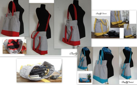 Ready to Ship 30%off -TOTE Bag /MESSENGER Bag/ SHOULDER bag / Diaper bag/ School Bag/ 7 interior Pockets/ Everyday bag / Waterproof lining /