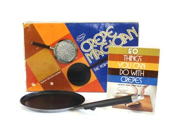 Popeil Crepe Magician Crepe Pan Maker 1970s Kitchen Cookware