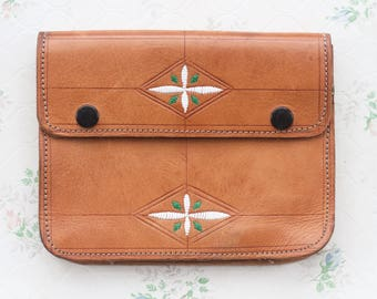 Leather Belt Satchel - Fanny Pack - Vintage Bum Bag - Belt Pouch Wallet - Hip Satchel I phone utility belt