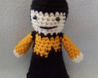 Made to order, Hand crocheted Data Star Trek like The Next Generation Amigurumi Doll
