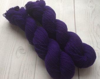Grape juice  - Baby yak , yak down, super fine, handdyed yarn 50g.