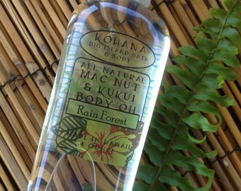 Hawaiian Rainforest-Macadamia Kukui Nut Body Oil-MADE IN HAWAII