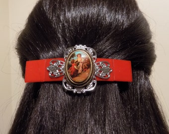 Large Barrette for Thick Hair / Victorian Barrette/ Womens Gift