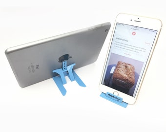 Universal foldable stand for phones, Kindle & mini tablets – credit card sized for iPhone, HTC, Samsung, Motorola, Google, Nokia and more