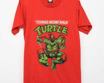 Teenage Mutant Ninja Turtles Shirt Vintage tshirt 1990s TMNT Raphael Sai Turtle Power Cowabunga Pizza Leonardo Donatello Michelangelo 90s