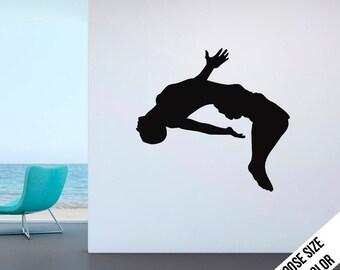 Backflip Dive Wall Decal - Cliff diver - Vinyl Sticker