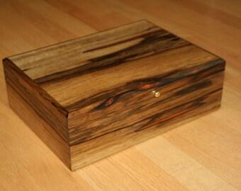 Watch box, Jewelry Box, Heirloom, Keepsake Black Limba (JB0075)