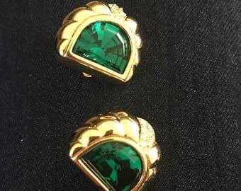 Vintage Swarvoski signed SAL clip earrings