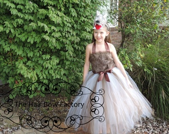 Ready To Ship The Hair Bow Factory Little Red Riding Hood BIG BAD WOLF Girl Halloween Costume Tutu Dress Size 6