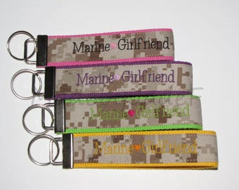 Marine Girfriend Fob / Marine Key Fob / Key Chain / 19 colors available