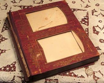 Antique Victorian Album Insert As Found